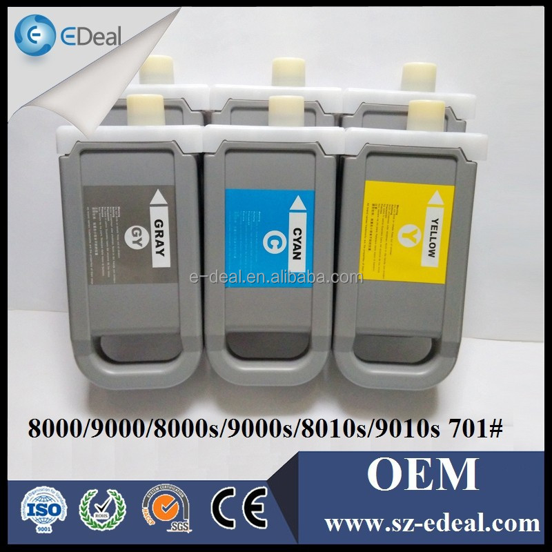 One time used cartridge for Canon ipf8000 ipf9000 compatible ink cartridge