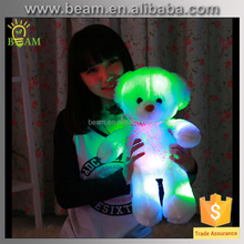 Valentine gift cheap plush LED light teddy bear toy with heart fashion custom lovely soft stuffed plush