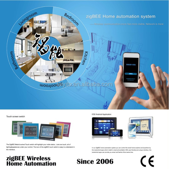 TAIYITO IOS Remote Control wireless zigbee domotic smart home automation system products