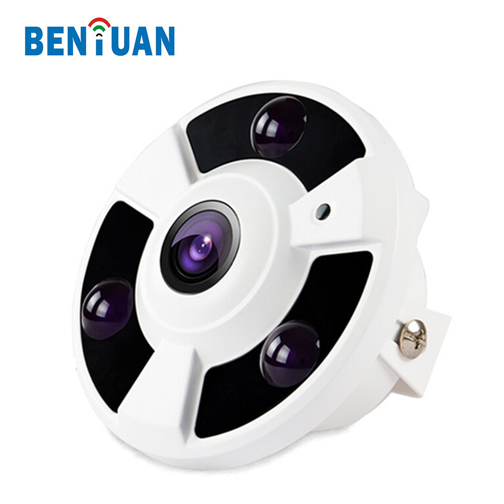 BENYUAN 180 degree Fish eye AHD Camera 1.3MP Celling indoor with IR