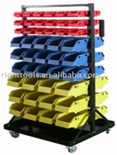 Rolling Parts Carts with 90pcs organizer bins