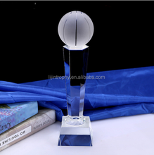 Customized Glass Football Basketball Golf Earth Crystal Trophy For League Americas Cup Awards Sport Events Souvenirs