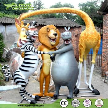Theme Park Life Size Cartoon Animal Statue Decoration