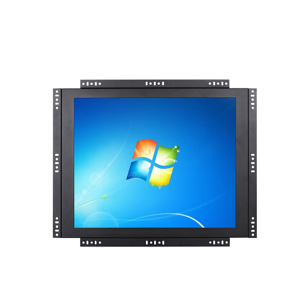 15 inch open frame touch LCD monitor with VGA DVI input industrial lcd monitor