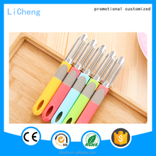 Cheap plastic knife for cutting fruits paring mini knives colorful knives