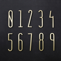 Brass House Number /70mm Height / 0-9 Number Modern Plaque Number House Hotel Door Address Digits Plate Sign HD-0039
