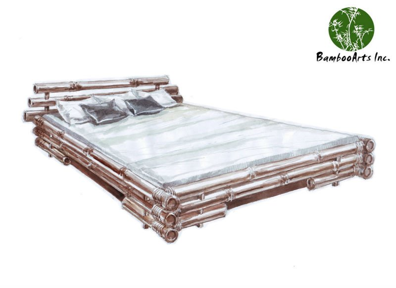 Bamboo Bed, Seperated Top, BD-002