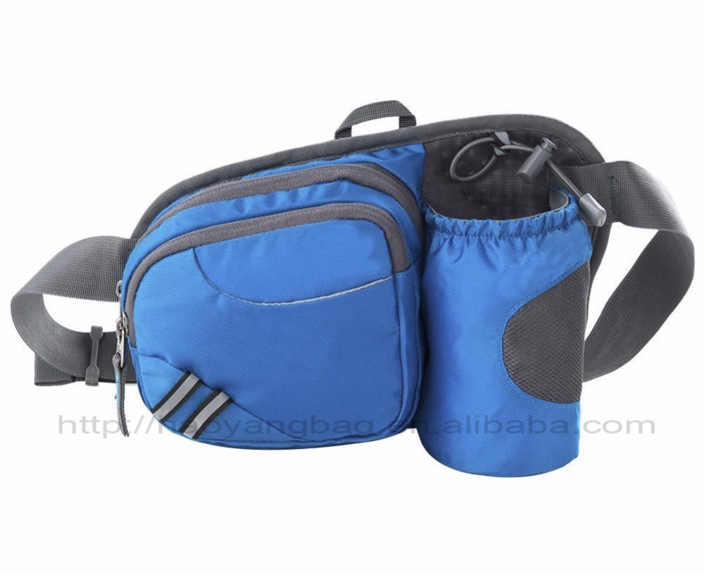 Funny Running Belt Bum Bag for Ridding Dog Walking Waist Bag with Water Bottle Holder