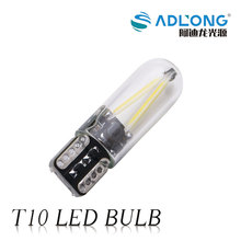 Newest 2017 Led Light T10 Car Light Led Filament Auto Automobiles Reading Dome Bulb Lamp 12V /24V T10 COB