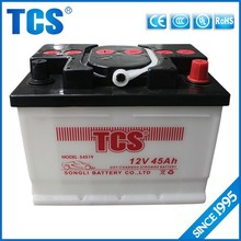 Maintenance free 12V 45Ah recycled batteries for car