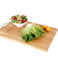 simple and durable bamboo cutting board with drain juice channel