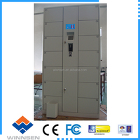 Stainless steel electronic intelligent storage cabinet,code/coin operated