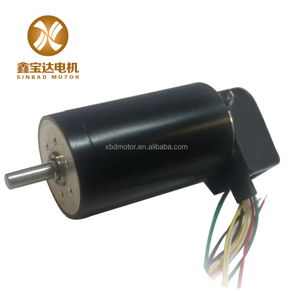 48v good quality coreless dc motor with encoder for RC cars 40*70mm