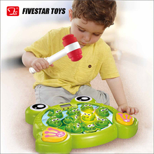 Funny Plastic Cartoon Frog Design Hammer Game Toy Kids Toys Educational