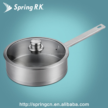 High Class 18/8 Stainless Steel Frying Pan with Lid Nonstick Aluminum