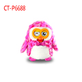 new interactive plush hibou electronic pet interactive with smartphone and tablet