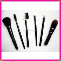 BL-LQ306 synthetic hair black 6 pieces with foundation mascara wands makeup brushes set