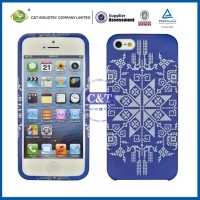 Latest Cell Phone factory price for iphone 5 5s 5c transparent pattern tpu soft case