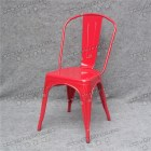 Popular red vintage Industrial metal chair YC-A51