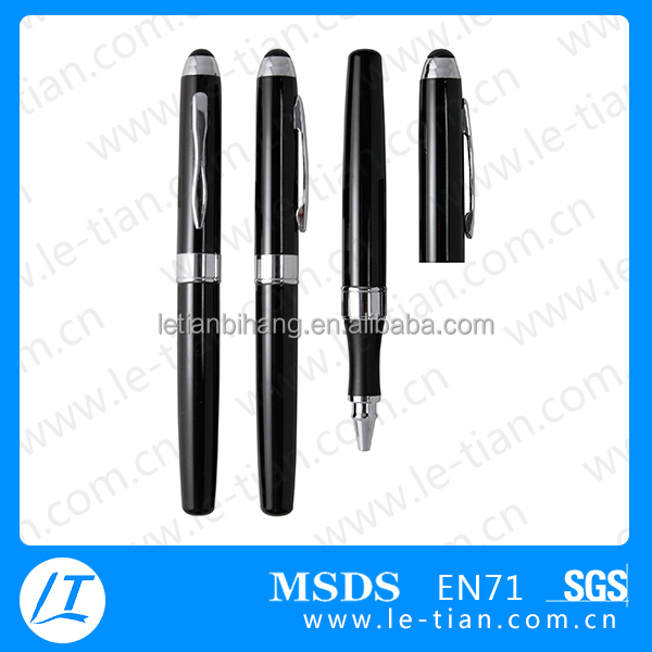 Hot Selling European Pen Office Promotional Metal Pen Black Plating Clip