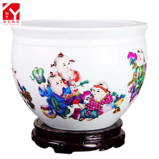 Jingdezhen ceramic unique fish farming tank aquarium product