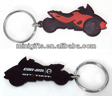 promotional motorcycle shape pvc rubber keychain/keyring/key holder with low price