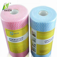 super absorbent nonwoven fabric for kitchen cleaning wipes in perforated roll