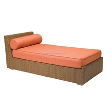 Hot sale orange outdoor wicker beach bed living accents outdoor furniture