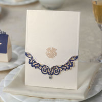 new pocket design Wedding Invitation with Laser Cut Cover CW502