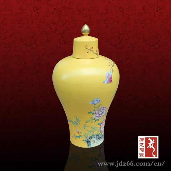 Chinese Various Decorative Yellow Antique Ceramic Vases
