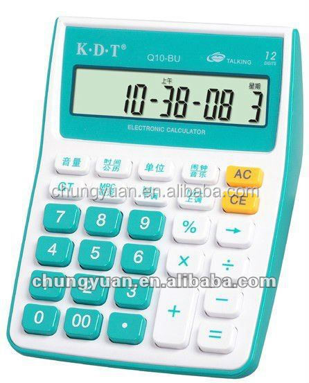 12 digits small solar calculator with solar energe