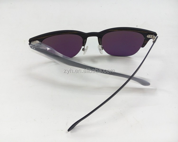 2016 Promotional carbon fiber wodden surface sunglasses
