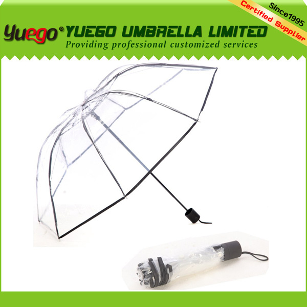 new inventions new product clear transparent folding umbrella