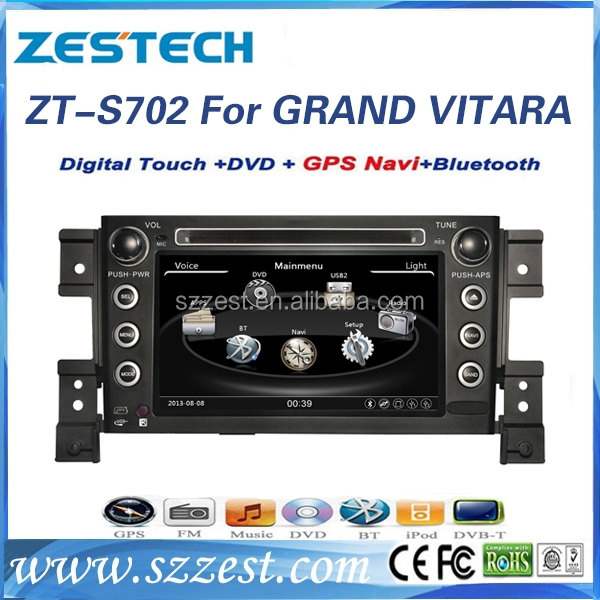 For suzuki grand vitara dashboard 2 din 7 inch car dvd player