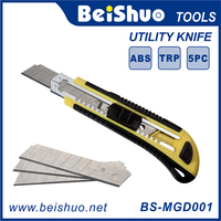 18mm Easy Cut Utility Cutter Knife With Three Blades Automatic Replacing Blades