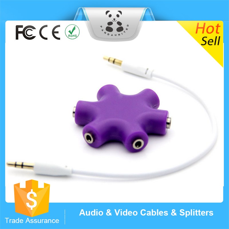 2016 3.5mm Headphone Earphone Audio Splitter 1 Male to 2 3 4 5 Female Cable Shopping