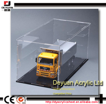 Custom clear acrylic box model car display cases perspex display cases