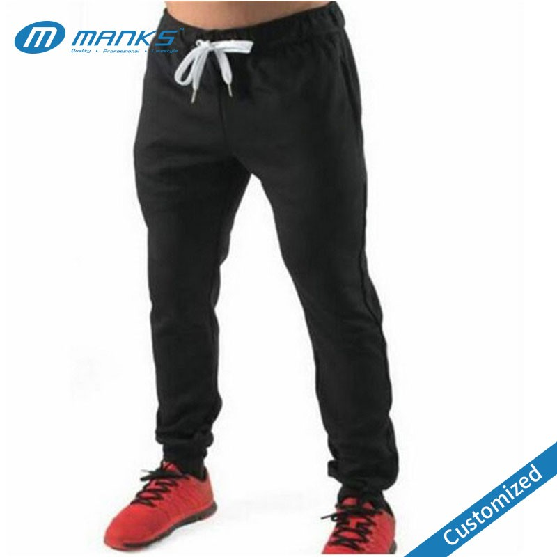 Customized Men High Quality Solid Color French Terry Soft Jogger Sweatpants