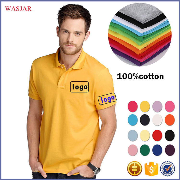 china guangzhou factory polo shirt office high quality no name man 100% cotton brand custom logo polo t-shirt