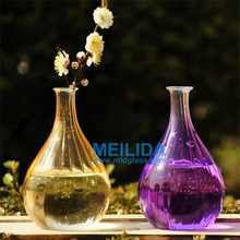 New arrived wholesale purple glass vases