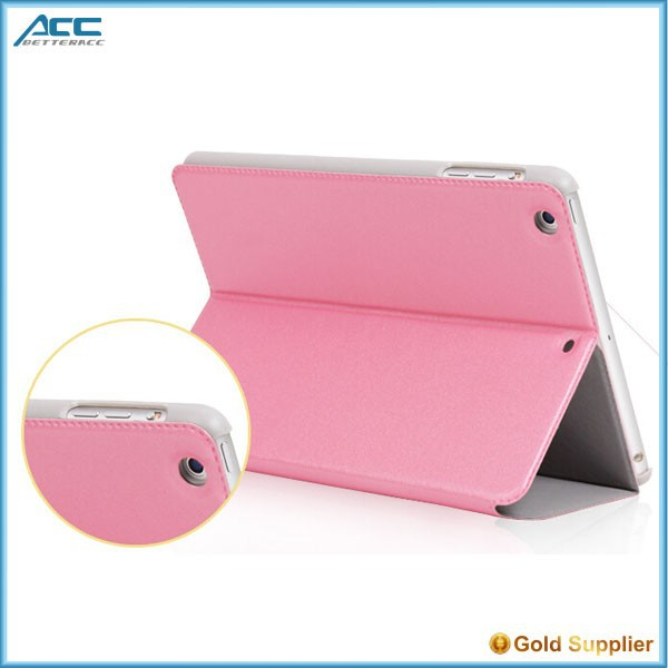 New design unbreakable protective case leather filp case for ipad mini 4