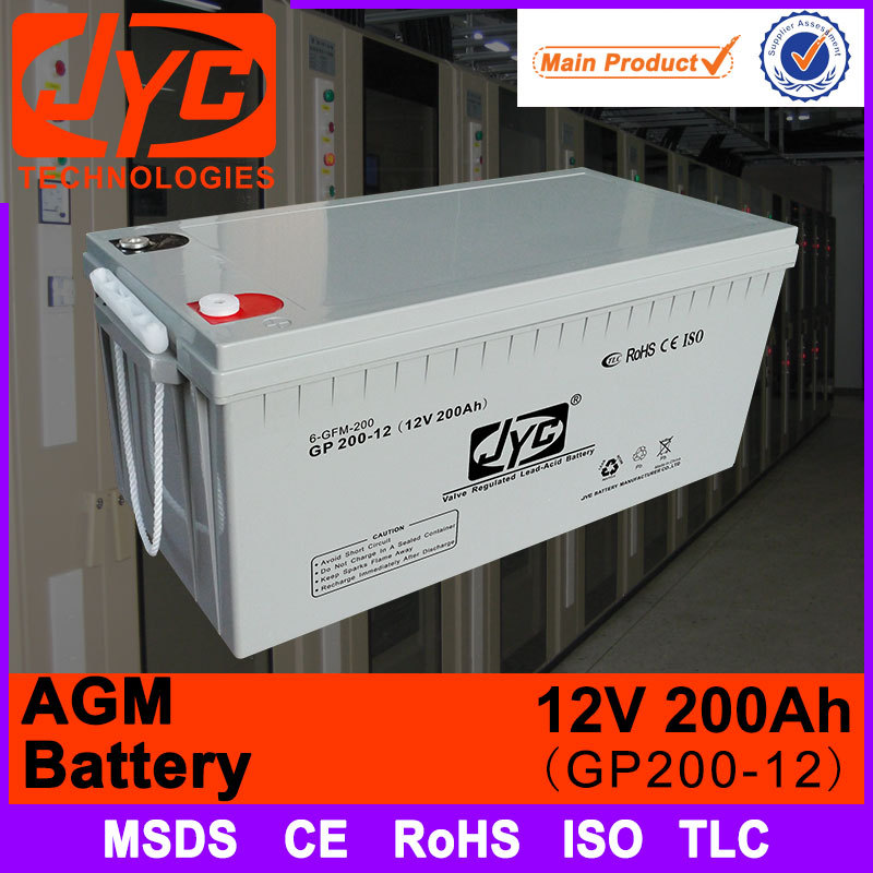 JYC alibaba old supplier 12v 200ah lead crystal battery for solar
