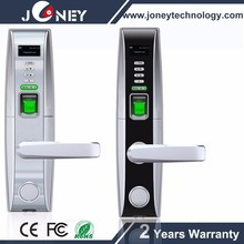 13.56mhz MF Zinc Alloy hotel door lock with handles JYC-LH4000