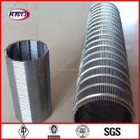 V wedge wire stainless steel water well pipe screen filter