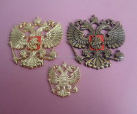 coat of arms national emblem for Russia eagle metal plaque