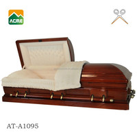 AT A1095 Cheap Natural Wooden Casket