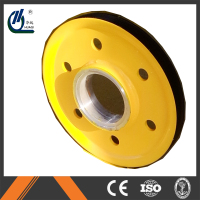 The color yellow forged steel sheaves pulley for sale