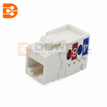 DW-7008 Amp 90 Degree Rj45 Cat5E Cat6 UTP Female Keystone Jack