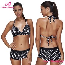 Free shipping black flecks fashion show sexy women bikini swim wear