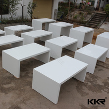 White solid surface artificial stone mobile bar counter